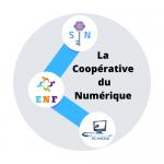 Logo de la coopérative du numérique, un groupement d'entreprises spécialisées dans le numérique installés à Saintes 17100 en Charente-Maritime 17.